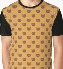 bear pattern Graphic T-Shirt