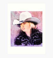 e5d171bbf9c Portrait of the Girl in the Ten Gallon Hat Art Print