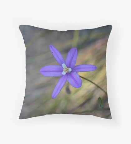 Brodiaea laxa Throw Pillow