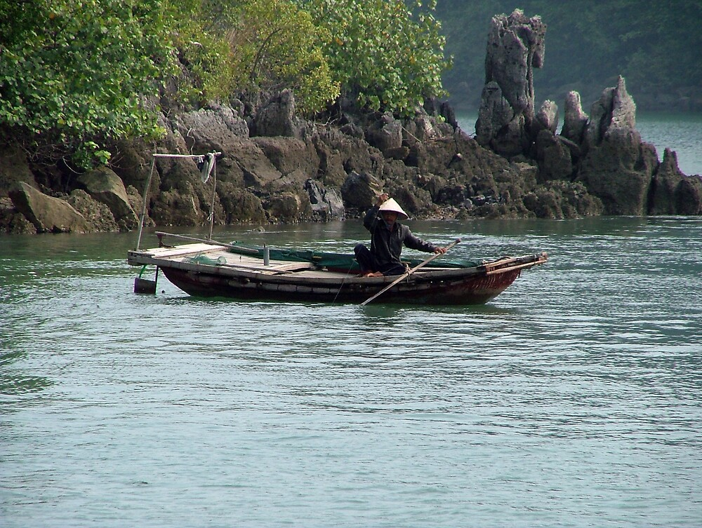Halong Bay Fisherman by Dieselsmum