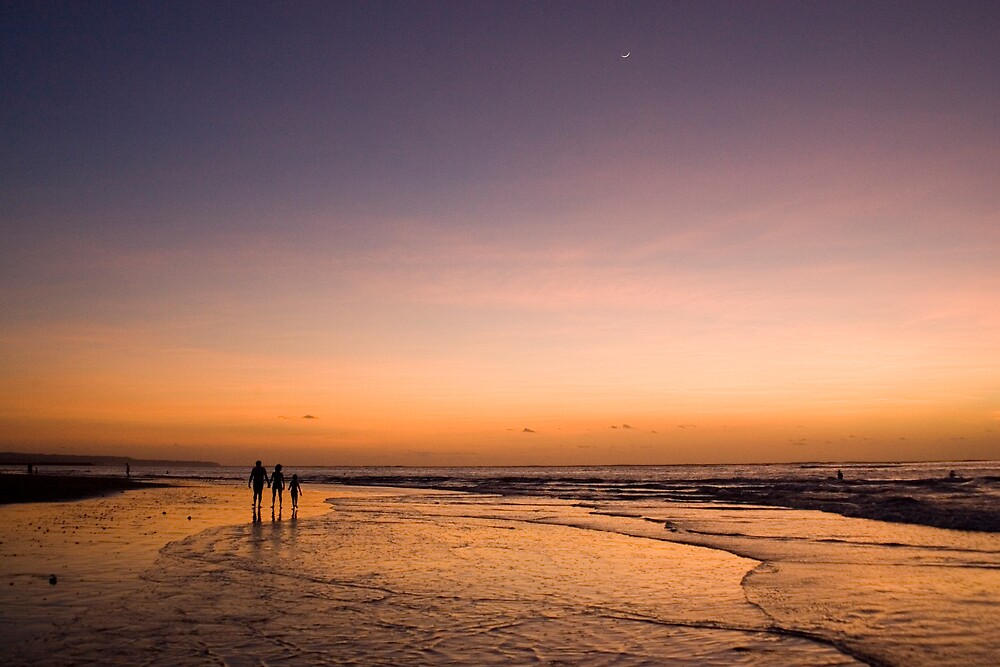 Dusk on Tuban Beach Bali by jephoto