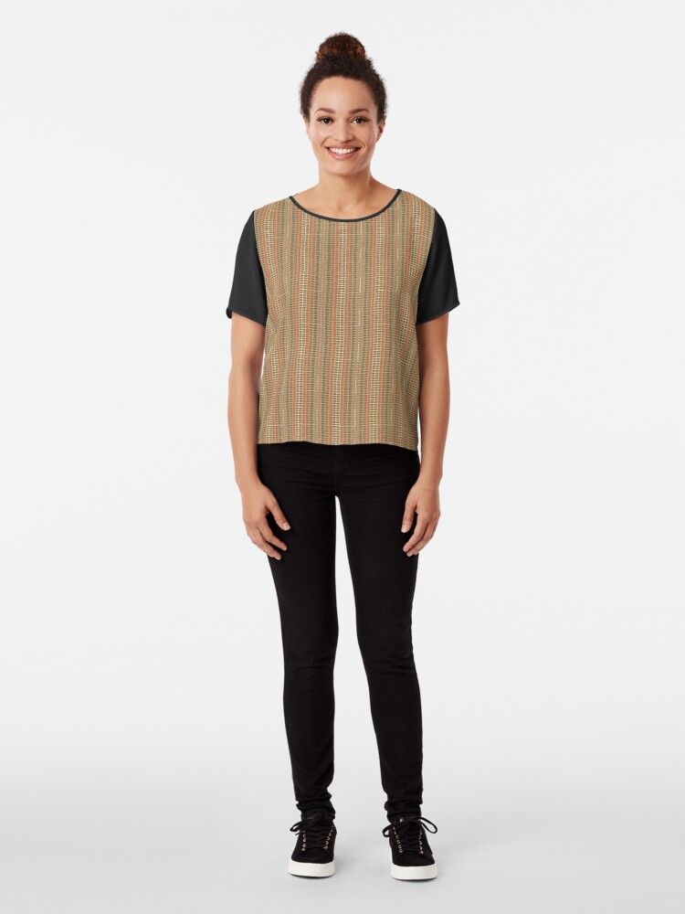 Alternate view of Brickwork Chiffon Top