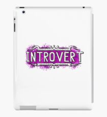 Introvert iPad Case/Skin