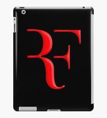 rf, roger federer, roger, federer, tennis, wimbledon, grass, tournament, ball, legend, sport, australia, nadal, net, cool, logo, perfect. iPad Case/Skin