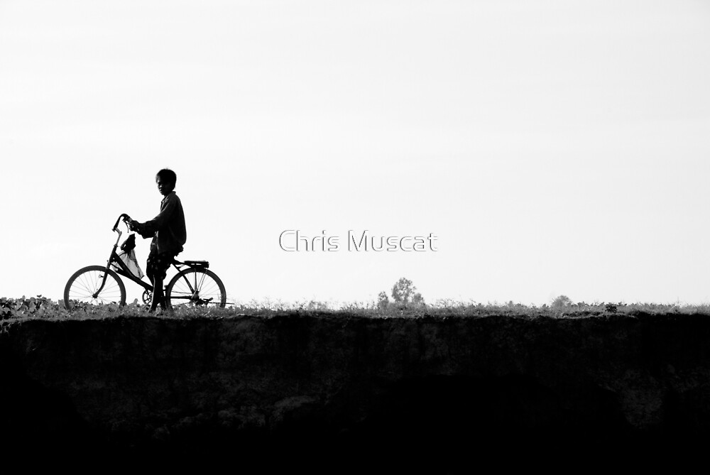 Mekong River Silhouette by Chris Muscat