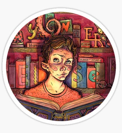 Book Boy Sticker