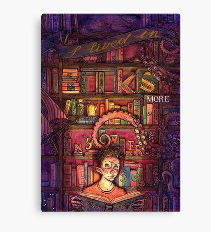 Book Boy Canvas Print