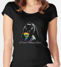 Proud Mama Bear Women's Fitted Scoop T-Shirt