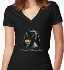 Proud Mama Bear Women's Fitted V-Neck T-Shirt
