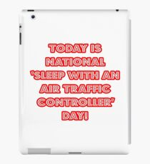 Funny Air Traffic Controller National Holiday iPad Case/Skin