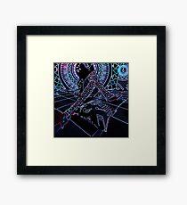 NEON PLAYFUL Framed Print