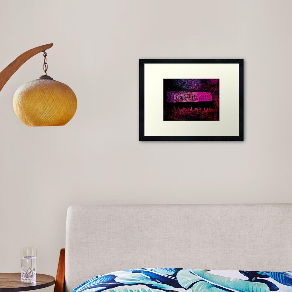 GASOLINE Framed Art Print