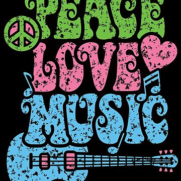 Peace Love Music Distressed by Lisann