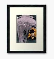 LEONARD Framed Print