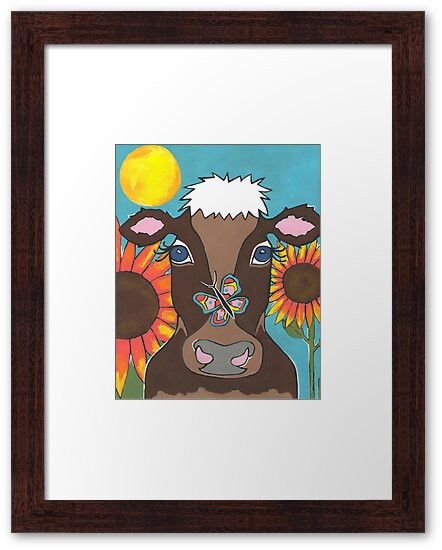 Brown Cow by Sartoris Art & Photography