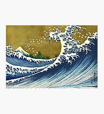 HOKUSAI, A Coloured Version Of, The Big Wave, Japan, Japanese Photographic Print