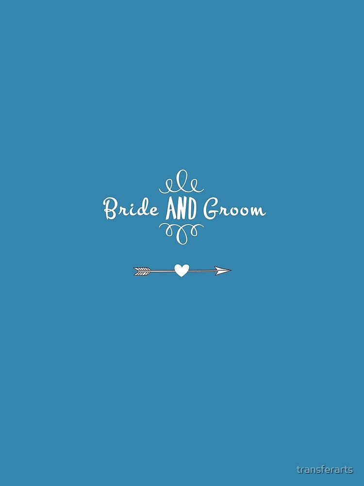 Bride and Groom Wedding or Engagement by transferarts