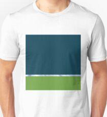 Blue Swirl Light Horizon Abstract Landscape Green  Unisex T-Shirt