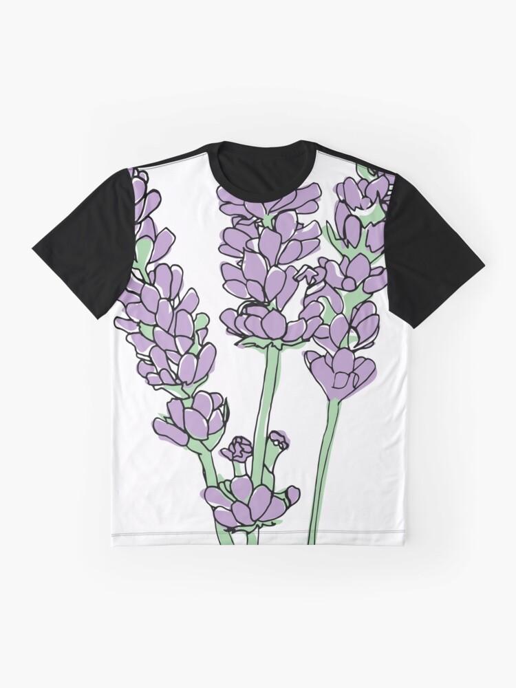 Alternative Ansicht von Lavendel-Illustration Grafik T-Shirt