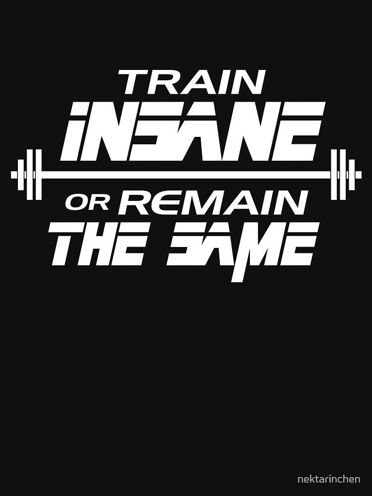 Train insane or remain the same by nektarinchen