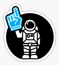 Lonely Astronaut - Supporting the Home Planet Team Sticker