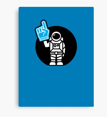 Lonely Astronaut - Supporting the Home Planet Team Canvas Print