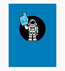 Lonely Astronaut - Supporting the Home Planet Team Photographic Print