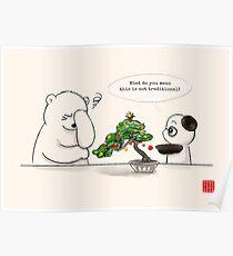 Christmas Bonsai Poster