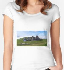 WEST KENNET LONG BARROW, Marlborough, Wiltshire, England 2 Women's Fitted Scoop T-Shirt