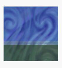 Light Swirl Abstract landscape horizon line  Photographic Print