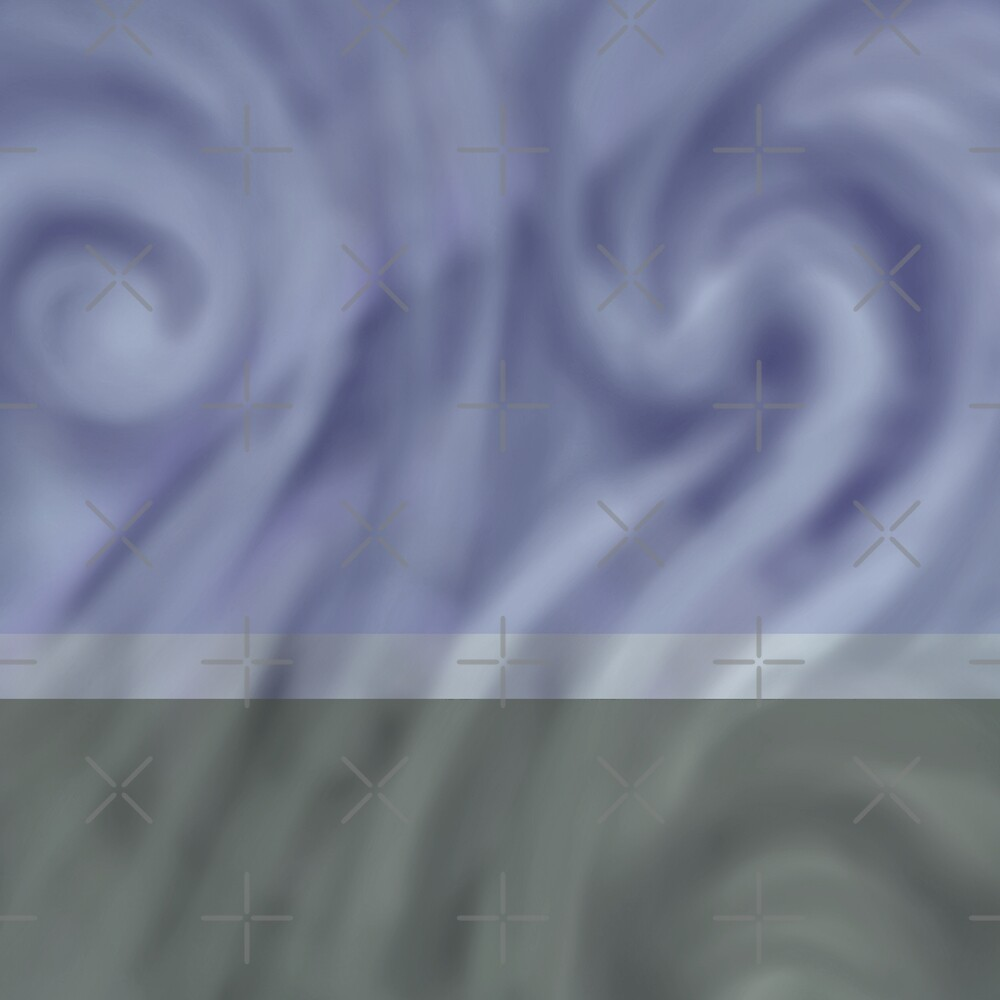 Pastel Gray Swirl Abstract Landscape Decor by Jacob Thomas