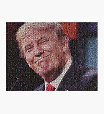 Donald Trump (Made entirely of crying liberals) Photographic Print