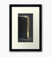 Book with bookmark banknote Framed Print