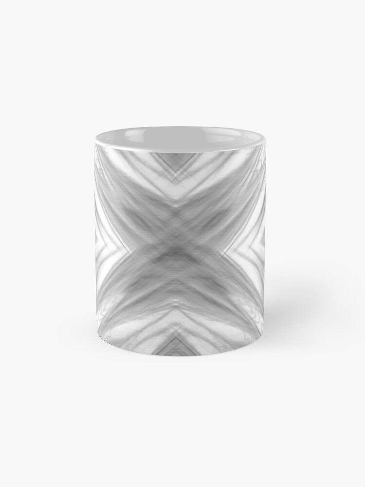 Alternate view of psychedelic drawing symmetry graffiti art abstract pattern in black and white Standard Mug