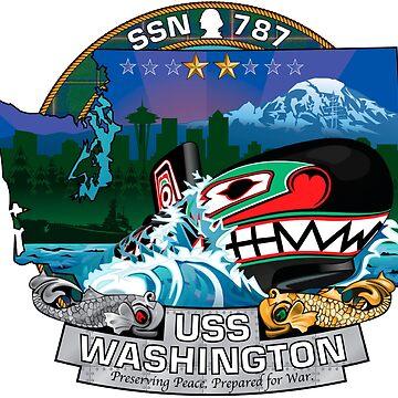 SSN-787 USS Washington Crest by Spacestuffplus