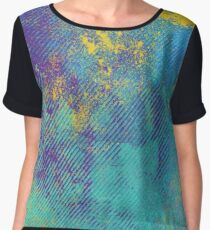 Striped Colored Grunge Abstract Pattern Women's Chiffon Top