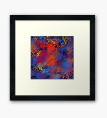 Abstract Watercolor Grunge Stain Pattern Design Framed Print