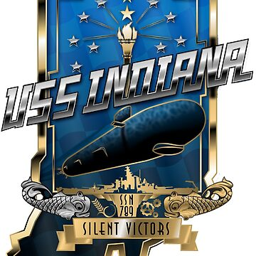 SSN-789 USS Indiana Crest by Spacestuffplus