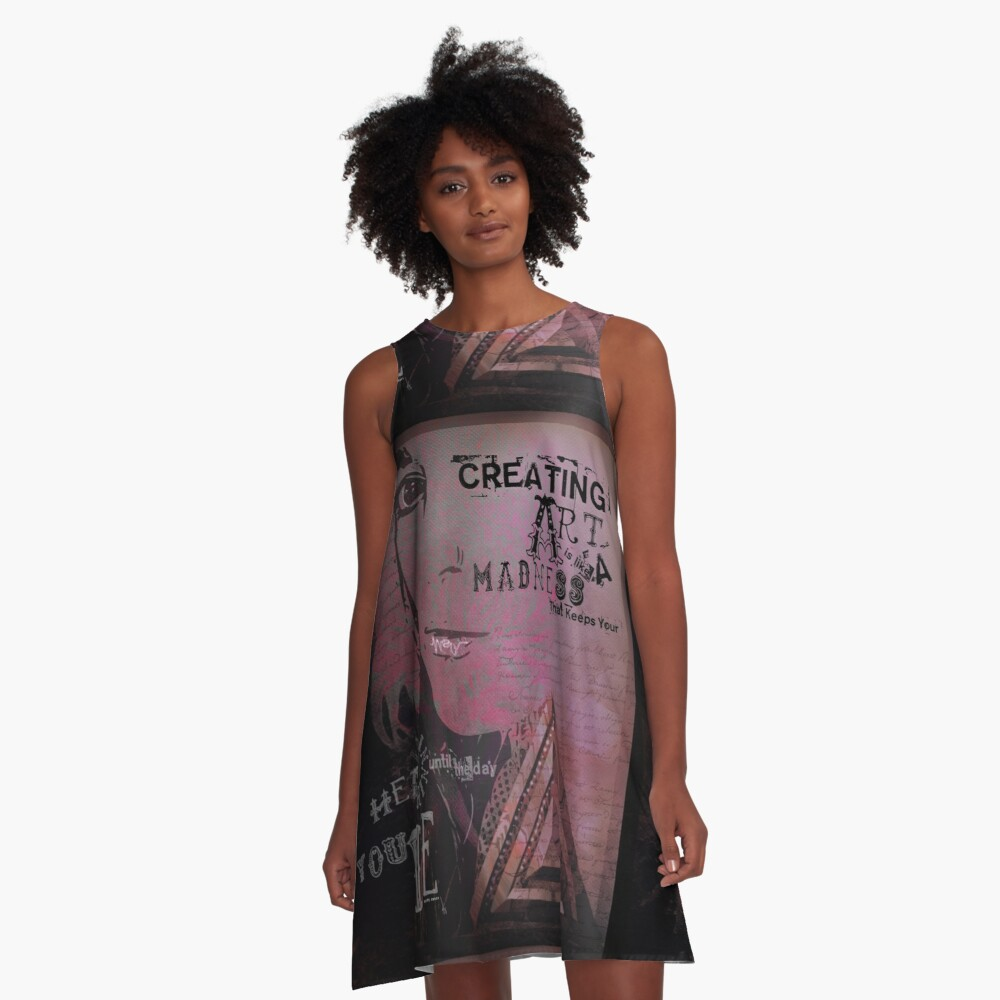 CREATING ART A-Line Dress Front