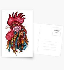 Tribal Rooster Design Postcards