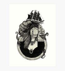 Lady Lumière. Art Print