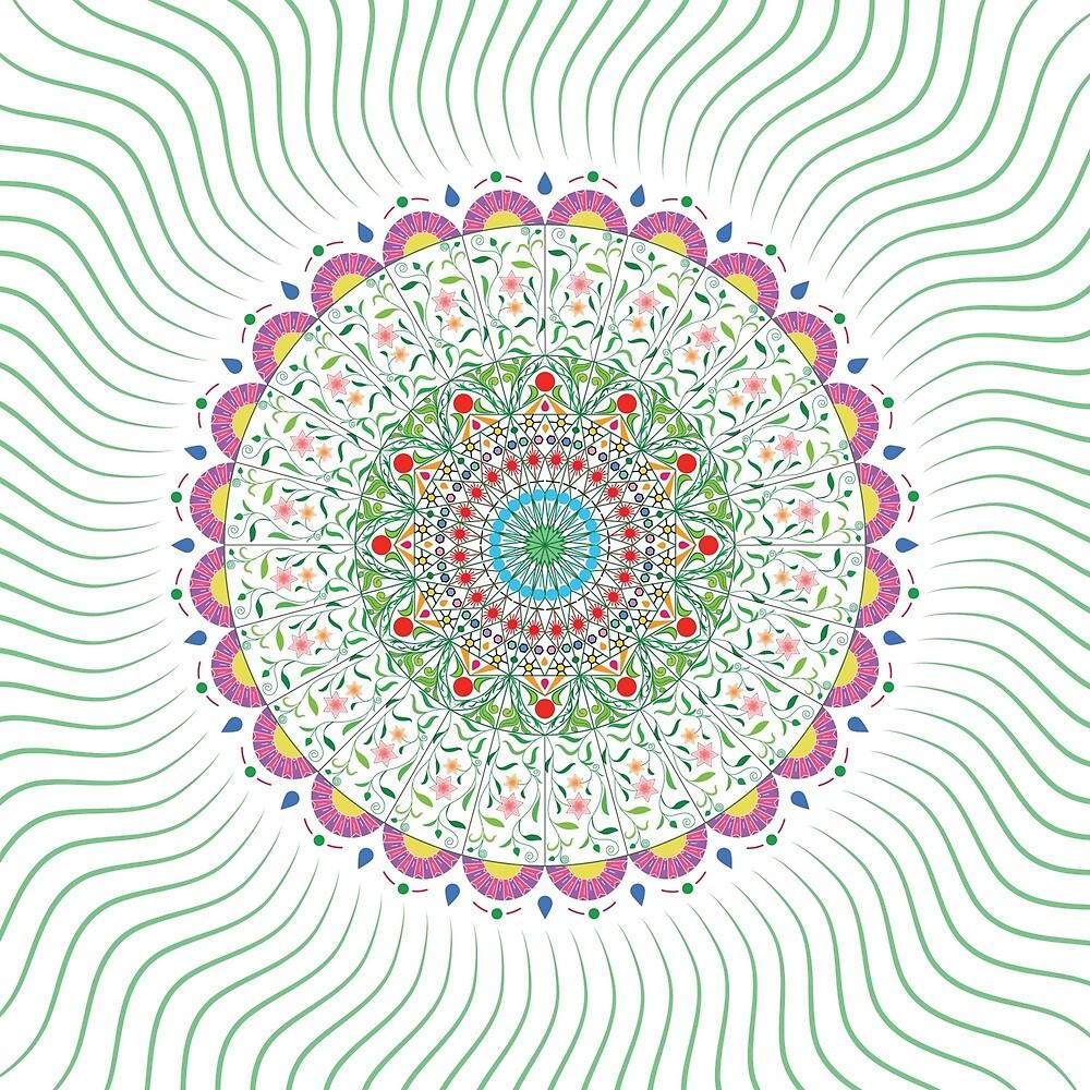 Green Mandala by starkle