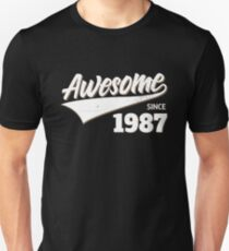 Awesome Since 1987 Birthday Gift Idea T-Shirt
