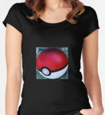 Pokemon Ball Women's Fitted Scoop T-Shirt
