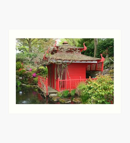 The Tea House, Compton Acres Art Print