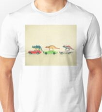 Dinosaurs Ride Cars Unisex T-Shirt