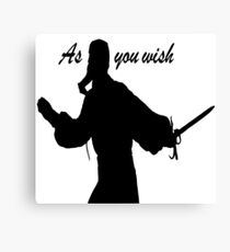 AS YOU WISH dread pirate roberts Canvas Print
