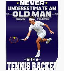 Roger Federer an Old Man Poster