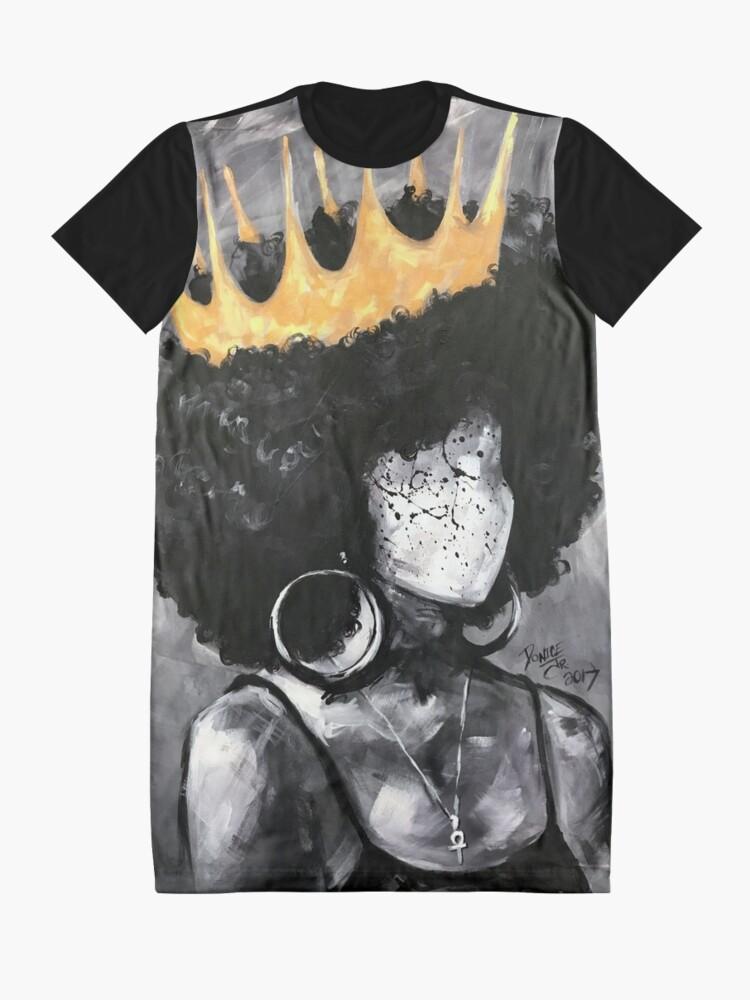 Alternative Ansicht von Natürlich Königin II T-Shirt Kleid