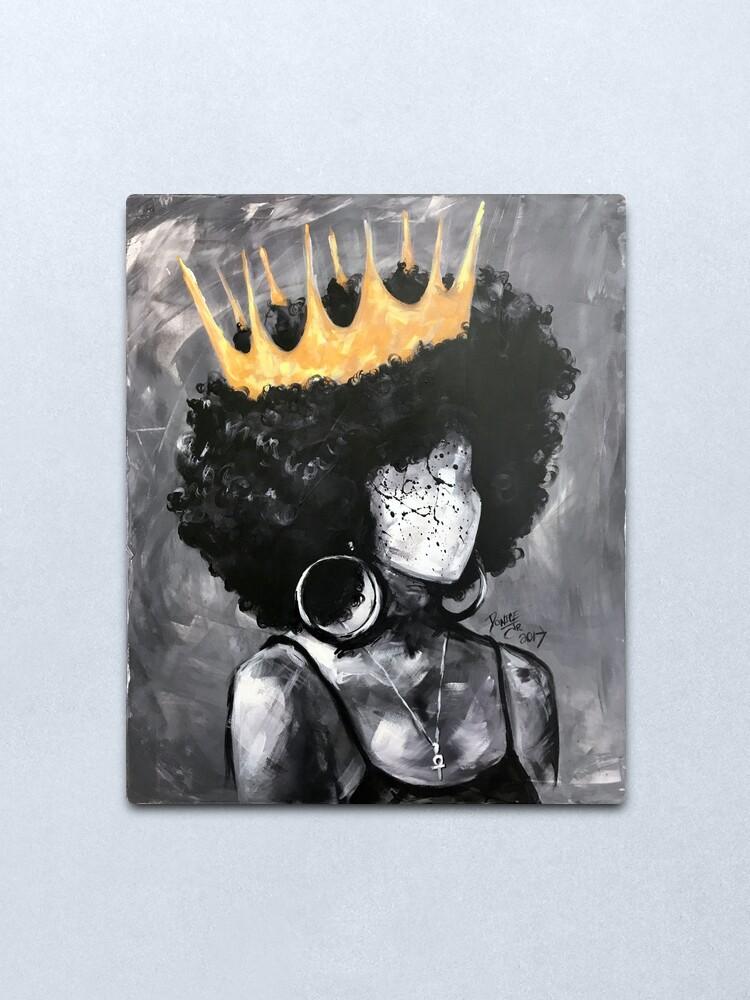 Alternate view of Naturally Queen II Metal Print